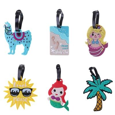 Cartoon Luggage Tag Creative Suitcase ID Address Holder Baggage Boarding Tags