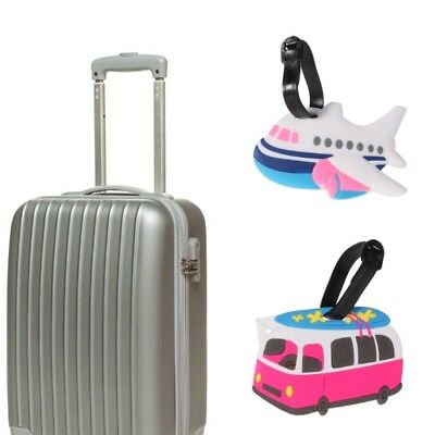 Cartoon Label Strap Suitcase Name Address Tel Tags for Travel Luggage Tag