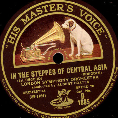 LONDON SYMPH. & COATES Borodin: In the Steppes of Central Asia 78rpm  G3135