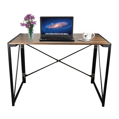Computer Table Desk Office Study Simple Desk Foldable Industrial Style Home New