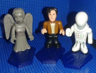 BBC Micro-Figure Series 1,2, & 3;WEEPING ANGEL, 11Th DOCTOR, & HANDBOT