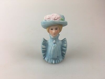 VINTAGE - HALF DOLL - LADY - BLUE - AVON 1982 - MEASURES 5cm TALL