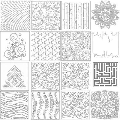 Layering Stencil Template Drawing Spray DIY Scrapbooking Wall Paint Craft Sheet