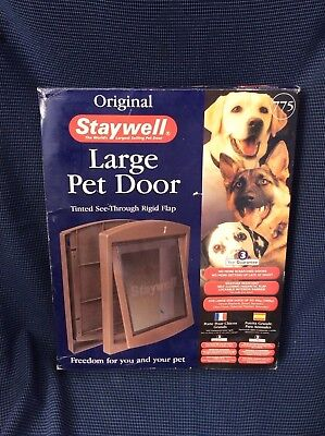 Pet Door Dog Cat Large Petsafe Staywell Original 2-Way Flap Brown Entrance Safe