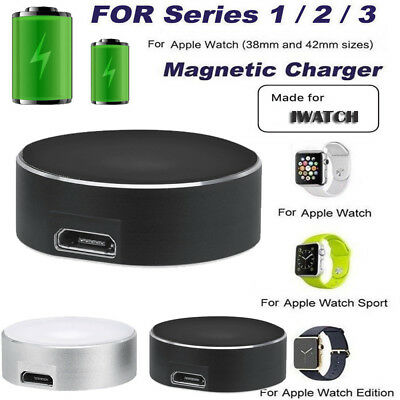 Apple Watch Series 1/2/3/ iWatch Wireless Magnetic Charger Stand Cable 38/42mm