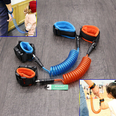 Kid Baby Safety Anti-lost Strap Link Harness Child Wrist Band Belt Lock catch AU