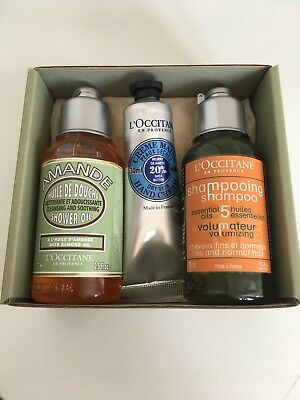 L'Occitane Gift Set - Shower Gel, Shampoo, Hand Cream - BRAND NEW