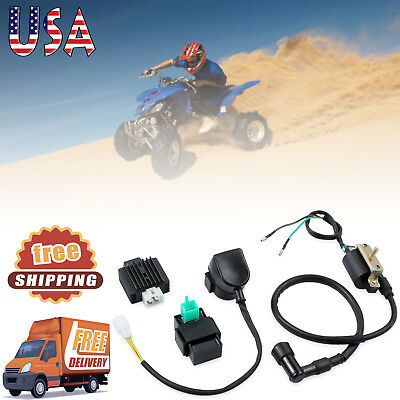 NEW Ignition Coil CDI Regulator Rectifier Relay 50cc 90cc 110cc Chinese ATV Quad