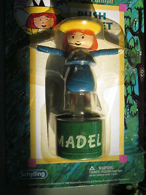 Madeline Dancing Push Puppet Hand Painted Wooden Toy Schylling 1998 New Sealed