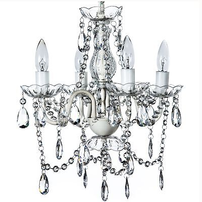 """The Original Gypsy Color 4 Light Small Crystal Chandelier for H 17.5"""" x W 15"""","""