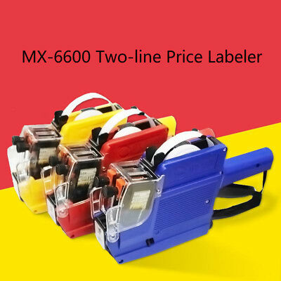 1-30PCS 10 Digits 2 Lines Labeler Portable Price Tag Gun With 5 Volume Tags LOT