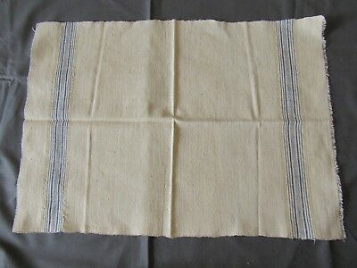 1896 Towel Cloth Linen Table Runner Fabric Striped #vintage 19C