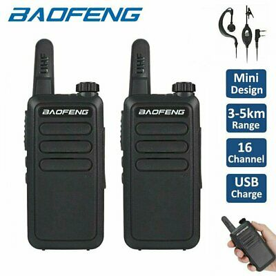 2X Baofeng Mini Walkie Talkie For Child Kids Toy 3-5km range 2 Way Radio Outdoor