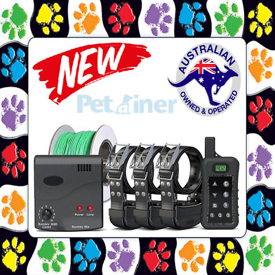 Waterproof 3 Dogs Electronic Hidden Dog Fence Fencing System Electric Collar