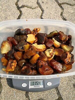 Very Beautiful Baltic Amber Royal Yellow and White Stone Piece 1154gr.