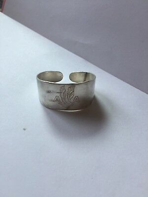 Vintage American Airlines Silver Napkin Ring