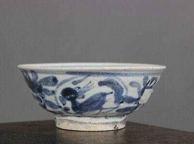Vung Tau Chinese Shipwreck Cargo Provincial Blue and White Deer Bowl c1690