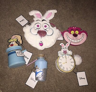 Primark Disney Alice In Wonderland Full Set Of 4 Purses & White Rabbit Bag BNWT