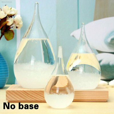 Weather Forecast Crystal Drops Water Shape Storm Glass Home Decor Xmas Gift DE