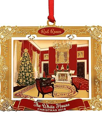 The 2018 White House Holidays Ornament - The Red Room,  Made in America, NEW