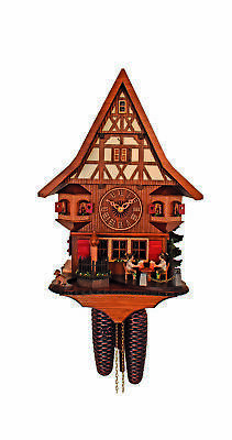 Cuckoo Clock House, Beer drinker, dog SC 8T 526/9 NEW