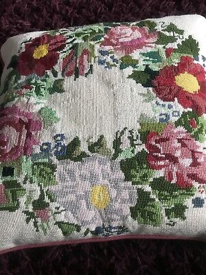 Ehrman Rose Wreath Tapestry With Cushion Pad 1995