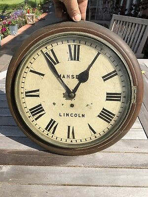 Old Victorian Wall Clock With Fusee Mechanism