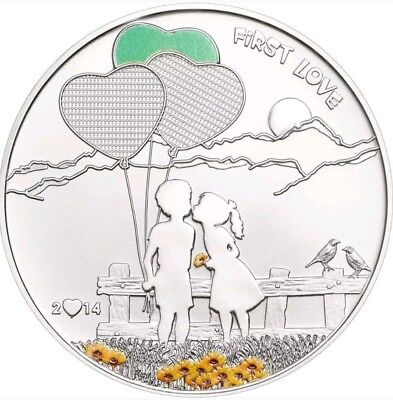 2014 20g PROOF Silver Cook Islands $5 PAINT YOUR COIN - First Love Coin.