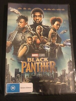 Black Panther (DVD, 2018) Marvel Movie 🍿 Brand New & Sealed Rated M 🎥