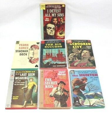 Vintage Lot of 7 Mystery, Thriller, Paperbacks Books, Mixed Authors (Pre-Owned)