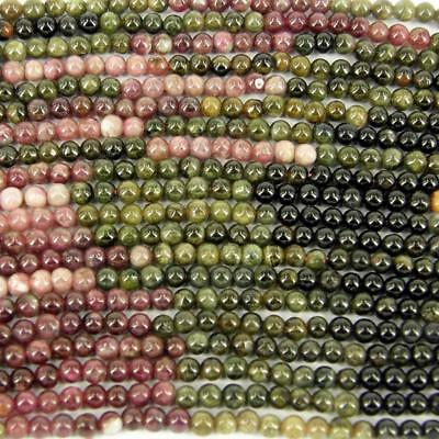 100 x Semi Precious Agate Jewellery Making Round Beads Mixed Earth 5mm No.12