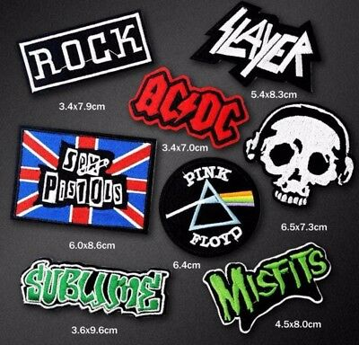 Rock Metal Band Sex Pistols Embroidered Misfits Patch Iron / Sew On Fancy Dress