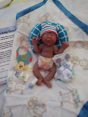 Miniature Full Body Solid Silicone baby Boy reborn doll Mini 5""