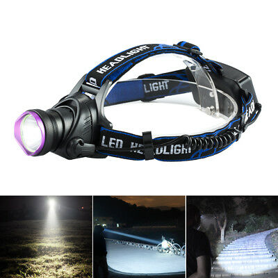 10000LM CREE XM-L T6 LED Headlamp Tactical Headlight Flashlight rechargeable、WRD