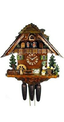 Cuckoo Clock Black Forest House, 2 Beer Drinkers 5.8868.01.C NEW
