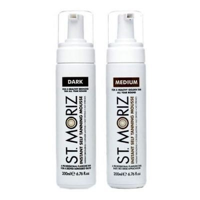 St Moriz Instant Self Tanning MOUSSE fake Tan Medium or Dark 200ML
