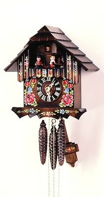 Cuckoo Clock Black Forest House, Flowers 4.0230.10.C NEW