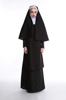 Women Nun Cosplay Costume With Stockings Hoodie Full set Carnival fancy Outfit B