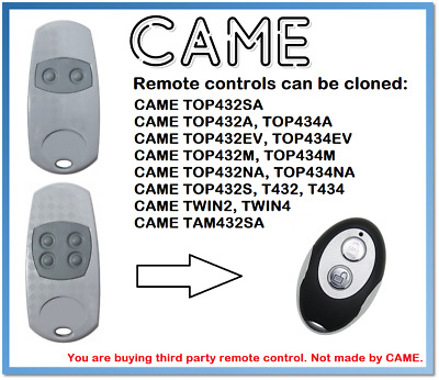 CAME TOP432EE, TOP434EE Universal Remote Control Duplicator 2-Channel 433.92MHz.