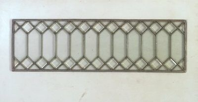 Set 4 Antique Leaded Beveled Clear Glass Windows Casement Or Transom