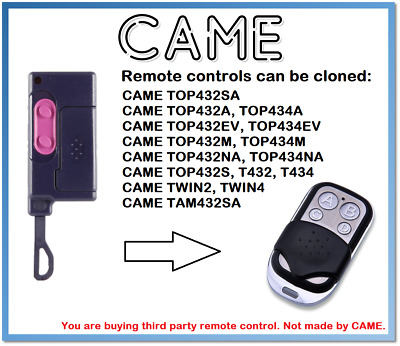 CAME TOP 432S Universal Remote Control Duplicator 4-Channel 433.92MHz.