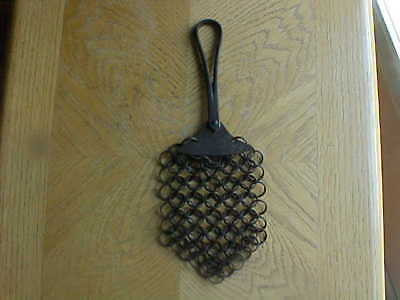 Antique Cast Iron Pot Scrubber & Scraper-Chain Links- Vintage Kitchen Tool