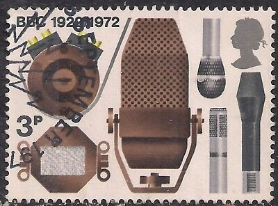 GB 1972 QE2 3p Broadcasting Anniversaries used stamp SG 909 ( B826 )