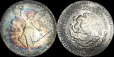 1983 Mexico Libertad Silver 1 Onza BU MS Target Toning In High Demand