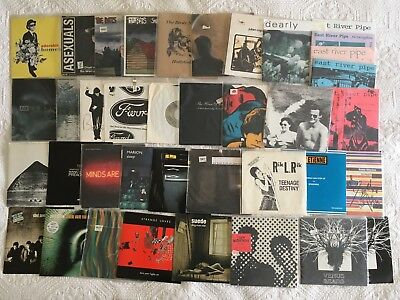 "38 7"" single record lot 45 rpm indie punk Britpop alternative college radio rare"