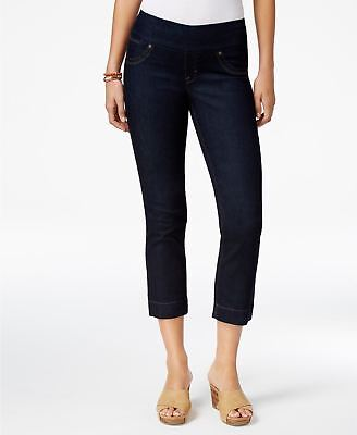 Style Co Pull-On Rinse Wash Capri Jeans Rinse L