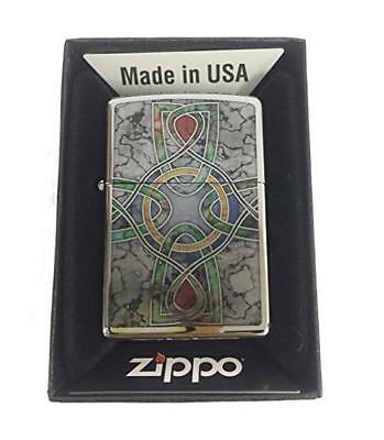 Zippo Custom Lighter Celtic Irish Cross Knot Religious Spiritual Fuzion