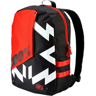 100% Porter Jeronimo Motorcycle Backpack - Red/Black