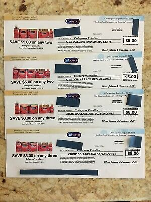 $26.00 WORTH OF ENFAGROW  COUPONS (expire 8-31 & 9-30-2018)