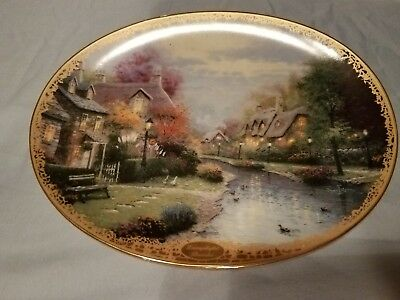 Limited Edition Plate No.5778C Kinkade Plate Lamplight Brooke Oval Bradford Exch